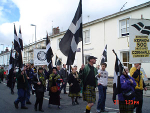 St Piran's Day Parade in Truro 2004